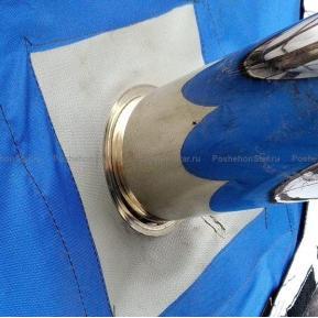 Разделка трубы из термоткани Пошехонка